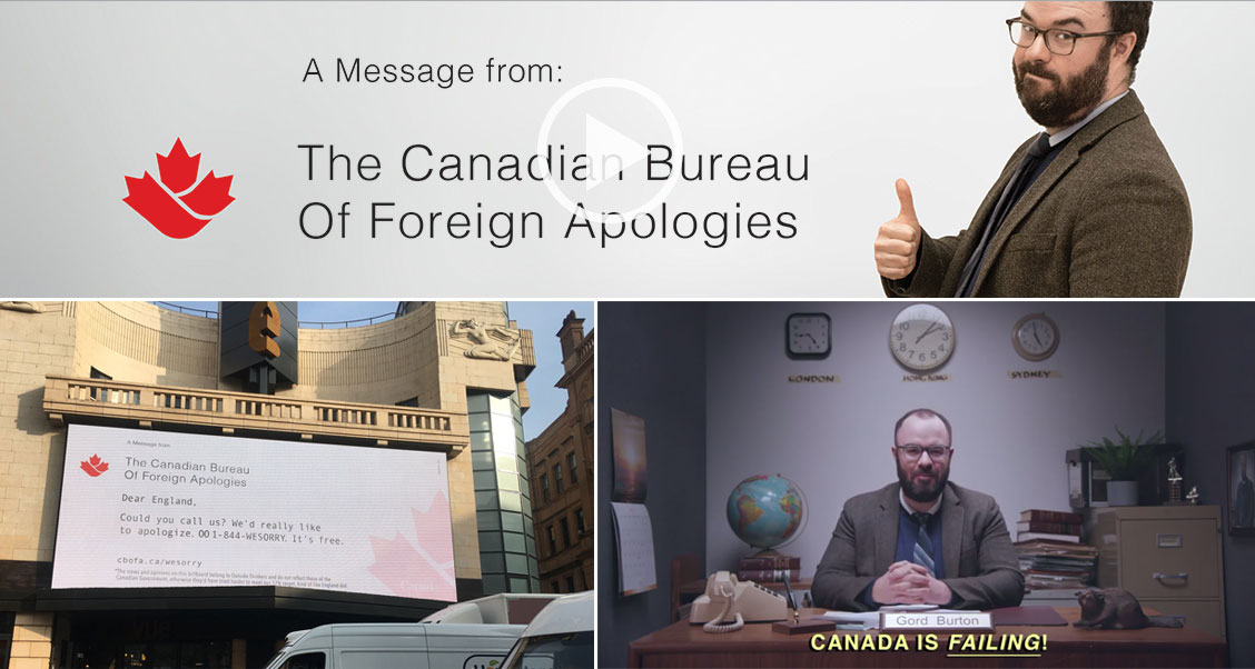 OutsideThinkers.ca creates The Canadian Bureau of Foreign Apologies to raise awareness for missed conservation goals